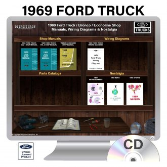 Detroit Iron® - 1969 Ford Truck Factory OEM Shop Manuals on CD