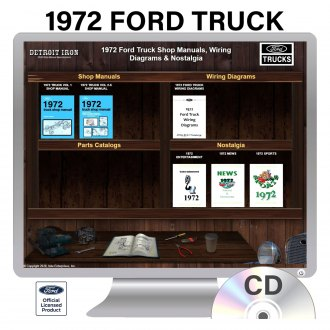 Detroit Iron® - 1972 Ford Truck Factory OEM Shop Manuals on CD