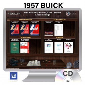 Detroit Iron® - 1957 Buick Factory OEM Shop Manuals on CD