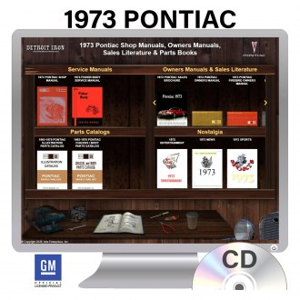 Detroit Iron® - 1973 Pontiac Factory OEM Shop Manuals on CD