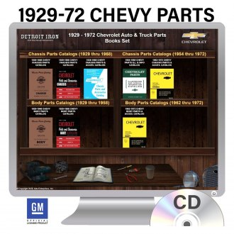 Detroit Iron® - 1929-1972 Chevrolet Auto/Truck Parts Manuals on CD