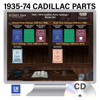 Detroit Iron® - 1935-1974 Cadillac Parts Manuals on CD