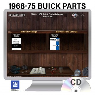 Detroit Iron® - 1968-1975 Buick Parts Manuals on 3 CDs