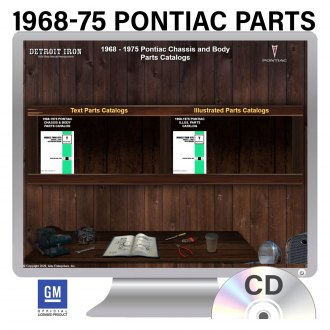 Detroit Iron® - 1968-1975 Pontiac Parts Manuals on 2 CDs