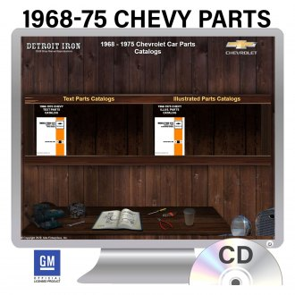 Detroit Iron® - 1968-1975 Chevrolet Parts Manuals on CD