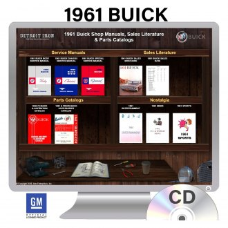 Detroit Iron® - 1961 Buick Factory OEM Shop Manuals on CD