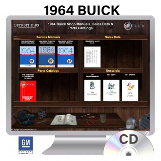 Detroit Iron® - 1964 Buick Factory OEM Shop Manuals on CD