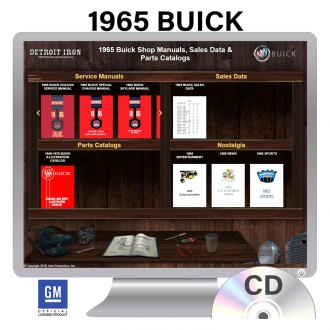 Detroit Iron® - 1965 Buick Factory OEM Shop Manuals on CD