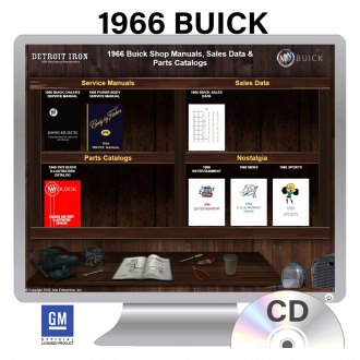 Detroit Iron® - 1966 Buick Factory OEM Shop Manuals on CD