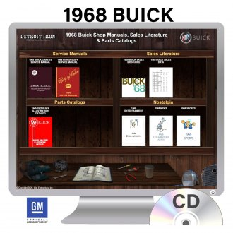 Detroit Iron® - 1968 Buick Factory OEM Shop Manuals on CD