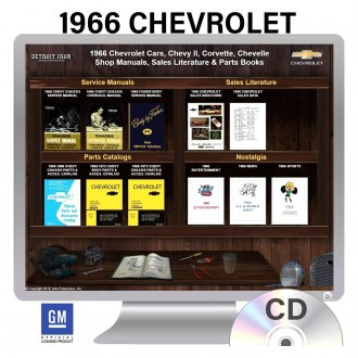 Detroit Iron® - 1966 Chevrolet Chevy II, Corvette, Chevelle Factory OEM Shop Manuals on CD