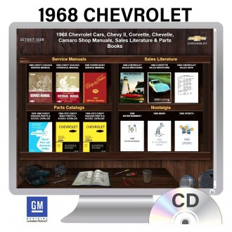 Detroit Iron® - 1968 Chevrolet Chevelle, Chevy II, Corvette, Camaro Factory OEM Shop Manuals on CD