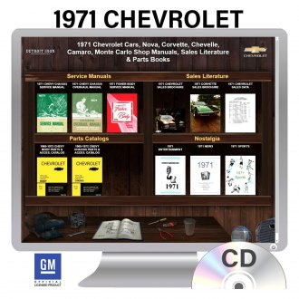 Detroit Iron® - 1971 Chevrolet Nova, Corvette, Chevelle, Camaro, Monte Carlo Factory OEM Shop Manuals on CD