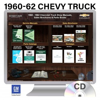 Detroit Iron® - 1960-1962 Chevrolet Trucks Factory OEM Shop Manuals on CD