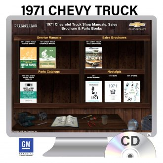 Detroit Iron® - 1971 Chevrolet Trucks Factory OEM Shop Manuals on CD