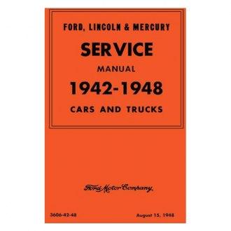 SHOP MANUAL FORD MERCURY SERVICE REPAIR BOOK CAR TRUCK HANDBOOK 1942-1948