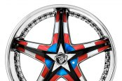 DIABLO® - REFLECTION X Chrome with Custom Inserts Style - Captain America