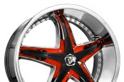DIABLO® - REFLECTION X Chrome with Custom Inserts Style - Black Skull on Red