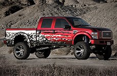DICK CEPEK® - DC2 Gloss Black with Machined Face on Ford F-250