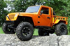 DICK CEPEK® - TORQUE Flat Black with Machined Flange on Orange Jeep Wrangler