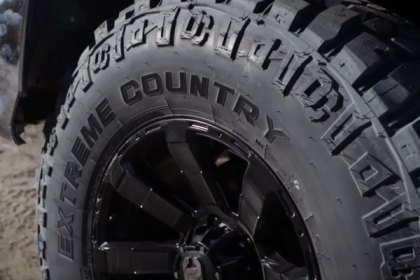 DICK CEPEK® EXTREME COUNTRY WITH OUTLINED WHITE LETTERING Tires on Chevy Silverado (HD)