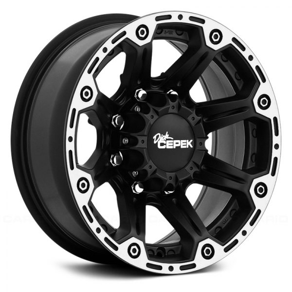 DICK CEPEK® - TORQUE Flat Black with Machined Flange