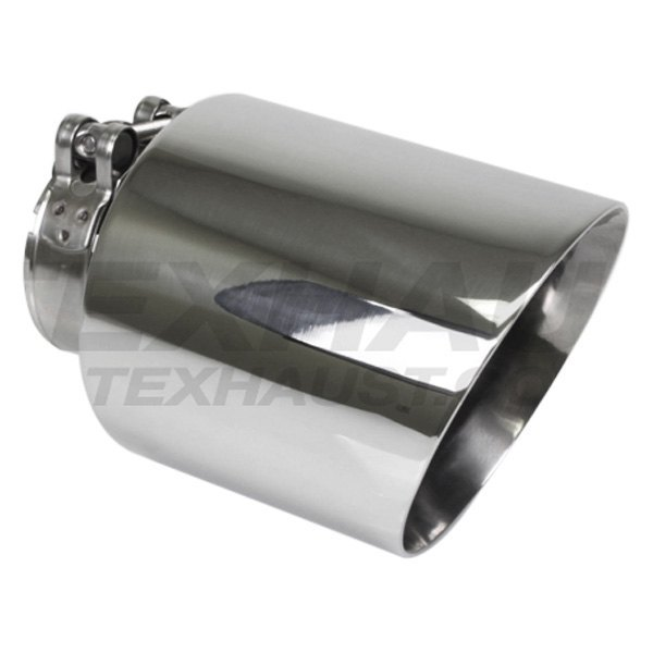 """Polished Stainless Steel Exhaust Tip 3/"""" Out 2.5/"""" inlet 6.5/"""" Long Round Angle Cut"""
