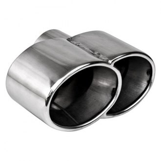 Different Trend® - Hi-Polished Series Stainless Steel Oval Rolled Edge Dual Exhaust Tip