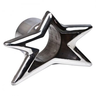 "Different Trend® - Hi-Polished Series Stainless Steel 5 Point Star Straight Cut Exhaust Tip (2.25"" Inlet, 3.5"" Length)"