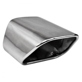Different Trend® - Hi-Polished Series Stainless Steel Rectangular Rolled Edge Angle Cut Double-Wall Exhaust Tip