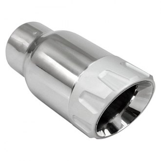 Different Trend® - Stainless Steel with Anodized Aluminum Series Aluminum Billet Closed Outer Casing Round Angle Cut Double-Wall Exhaust Tip