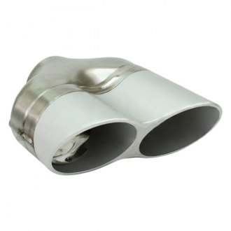 Different Trend® - Stainless Steel with Anodized Aluminum Series Aluminum Billet Sideways Round Angle Cut Dual Exhaust Tip