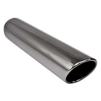 Different Trend® - Black Chrome Series Round Rolled Edge Angle Cut Exhaust Tip