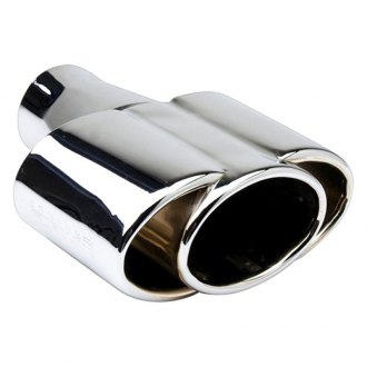 "Different Trend® - Hi-Polished Series Stainless Steel Triple Oval Straight Cut Exhaust Tip (2.5"" Inlet, 8"" Length)"
