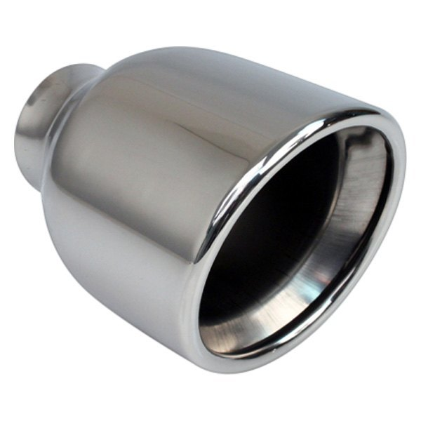 """Two 2.5/"""" Stainless Steel Dual Wall Round Universal exhaust tip"""