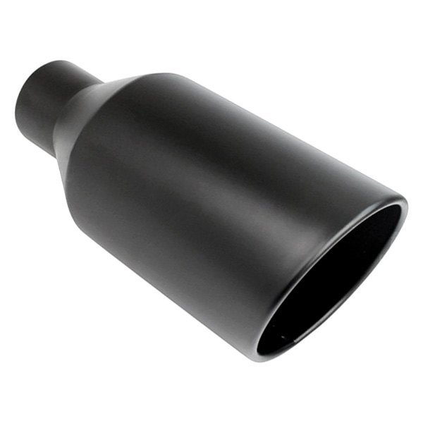 """18/"""" Long WELD ON Exhaust Tip One powder coated Black 2.5/"""" Inlet //4/"""" Outlet"""
