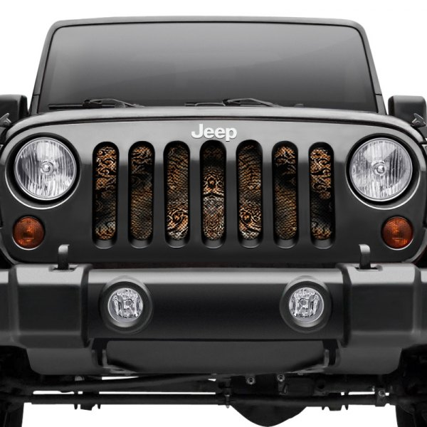 Jeep Wrangler Grill >> Dirty Acres 1 Pc Animal Style Perforated Main Grille