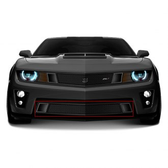 DJ Grilles® - Image may not reflect your exact vehicle! GT Strada Black Mesh Bumper Grille