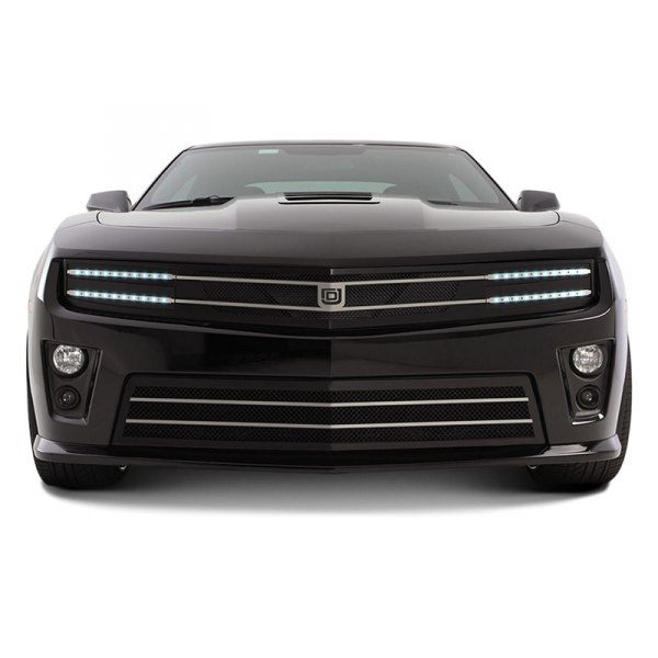DJ Grilles® - Image may not reflect your exact vehicle! Hawkeye Black Mesh Main Grille