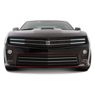 DJ Grilles® - Image may not reflect your exact vehicle! Hawkeye Black Mesh Bumper Grille