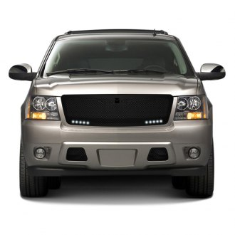 DJ Grilles® - Macaro Black Mesh Main Grille with LED Driving Lights