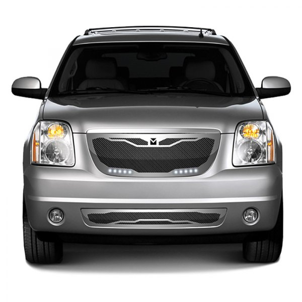 DJ Grilles® - Image may not reflect your exact vehicle! Macaro Black Mesh Main Grille