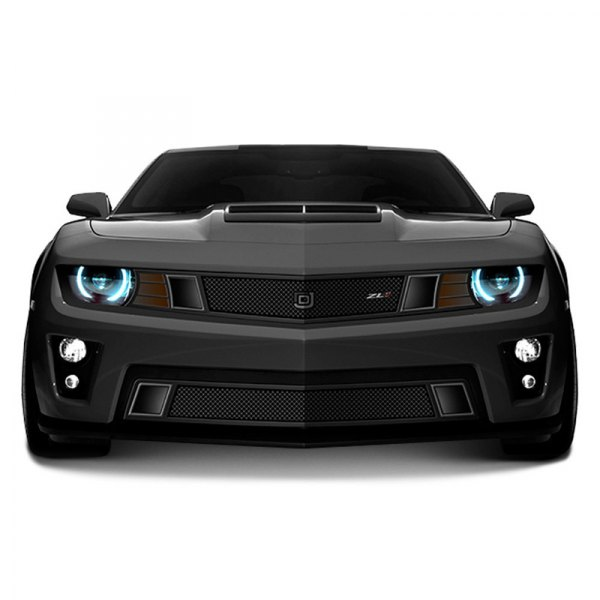 Image may not reflect your exact vehicle!DJ Grilles® - 1-Pc GT Strada Series Black Mesh Main Grille
