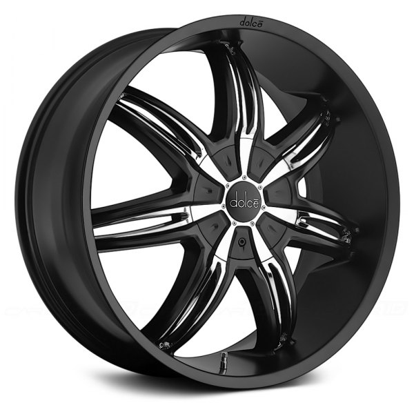Dark Chrome Rims on Dolce Dc40 Black With Chrome Inserts Dolce