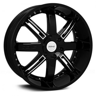 DONZ® - FRANK WHITE Gloss Black with Machined Face