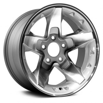 "Dorman® - 15"" 5 Spokes Light Gray Alloy Wheel"