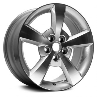 "Dorman® - 17"" 5 Spokes Silver and Machined Alloy Wheel"