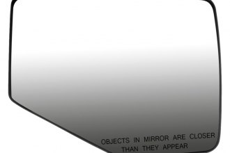 Dorman® - Passenger Side Power Door Mirror Glass with Backing Plate