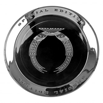 Dorman® - Chrome with Black Circle Wheel Center Cap With Gold Emblem