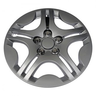 "Dorman® - 15"" Chrome and Gray Wheel Cover"